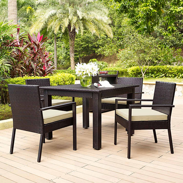 Crosley Palm Harbor Wicker 5-pc. Patio Dining Set