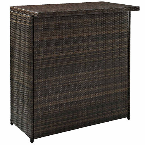 Crosley Palm Harbor Wicker Patio Bar