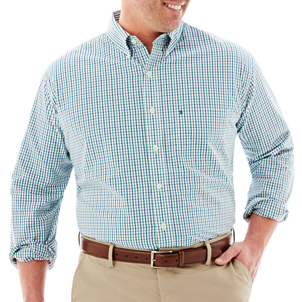 Izod essential woven shirtbig tall jcpenney for Izod big and tall essential solid shirt