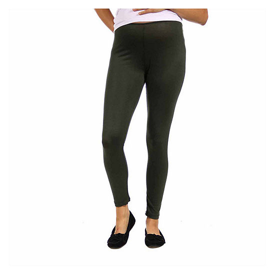 24/7 Comfort Apparel-Plus Maternity Womens Over Belly Legging