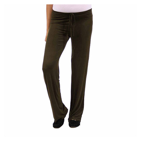 24/7 Comfort Apparel Womens Drawstring Pants - Maternity