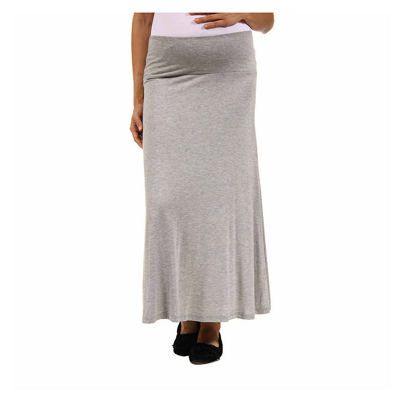 24/7 Comfort Apparel Maxi Skirt-Maternity plus size,  plus size fashion plus size appare
