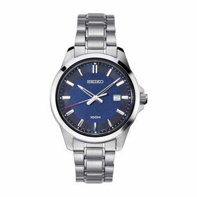 Seiko Mens Silver Tone Bracelet Watch-Sur255