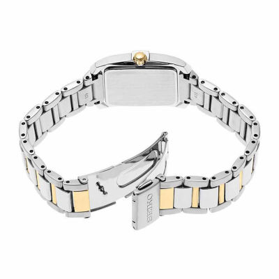 Seiko Crystal Womens Two Tone Bracelet Watch-Sur684
