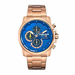 Head Topspin Mens Rose Goldtone Stainless Steel Bracelet Watch-He-003-05