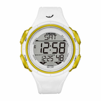 Head Slalom Mens White Strap Watch-He-100-03