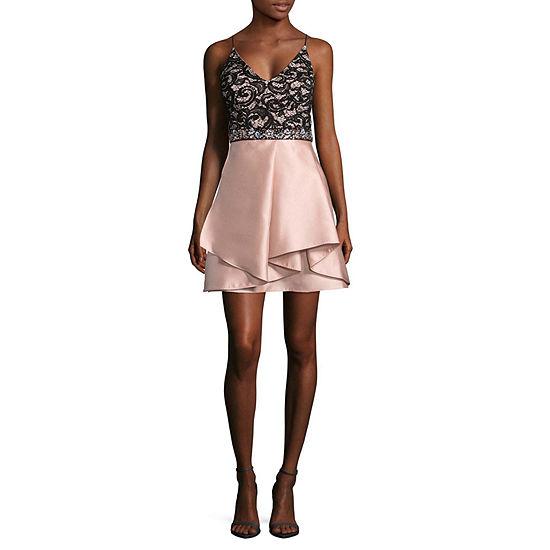 Byer California Sleeveless Midi Party Dress-Juniors