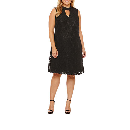 Scarlett Sleeveless Sheath Dress-Plus