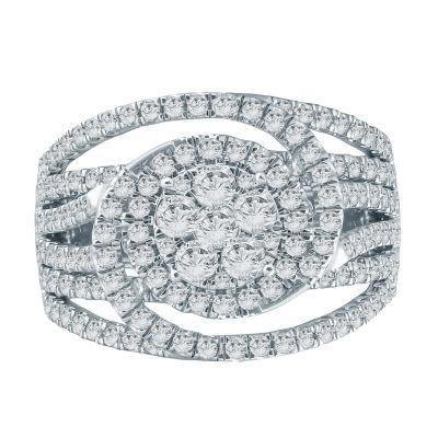 Womens 2 1/2 CT. T.W. Genuine White Diamond 10K Gold Engagement Ring