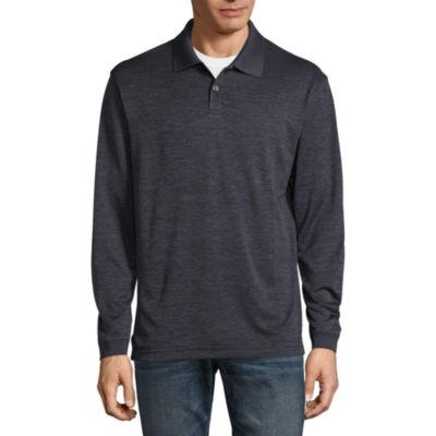 Haggar Long Sleeve Poly Polo Shirt