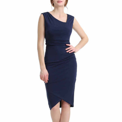 Phistic Women's Wrap Bottom Fitted Midi Dress