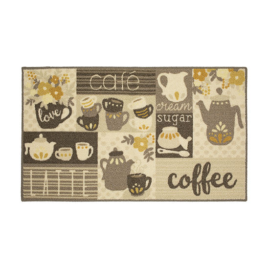 JCPenney Home Coffee Printed Rectangular Indoor Rugs