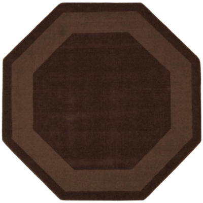 St. Croix Trading Transitions Cut & Loop Border Octagon Rugs
