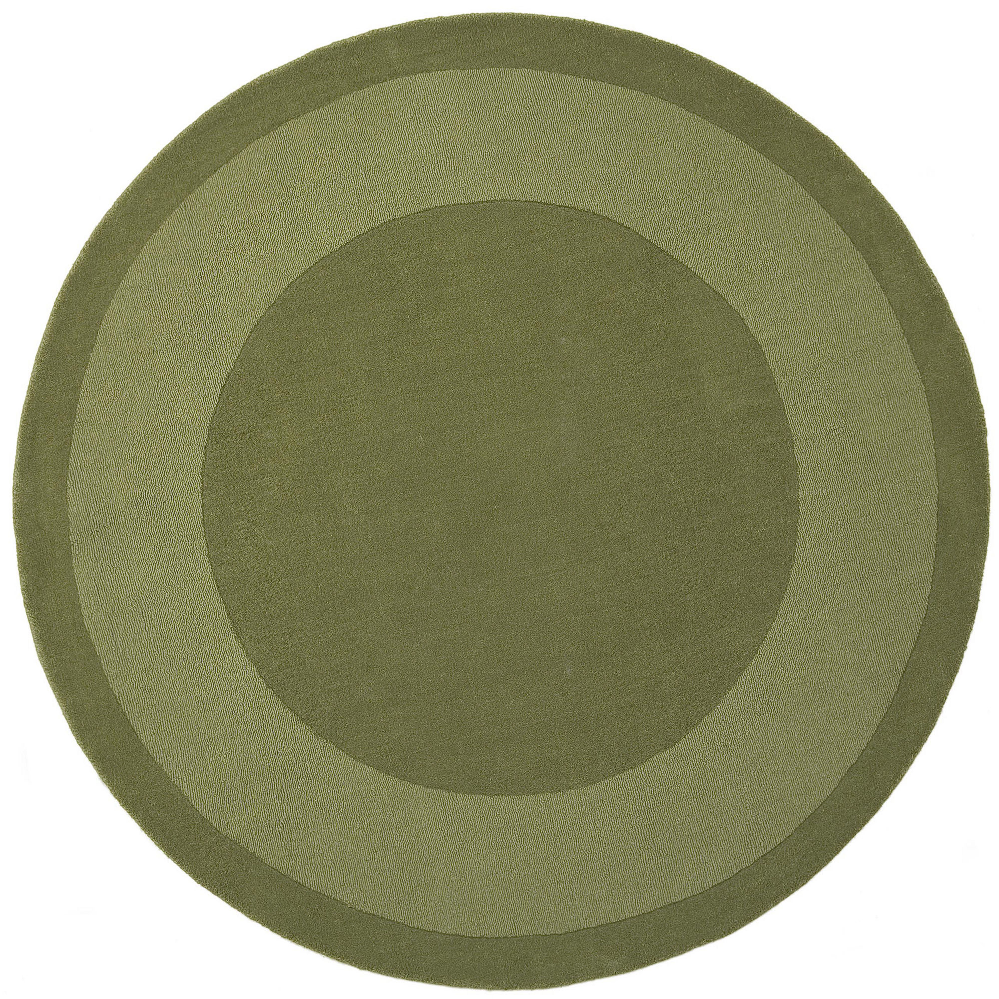 St. Croix Trading Transitions Cut & Loop Border Round Rugs