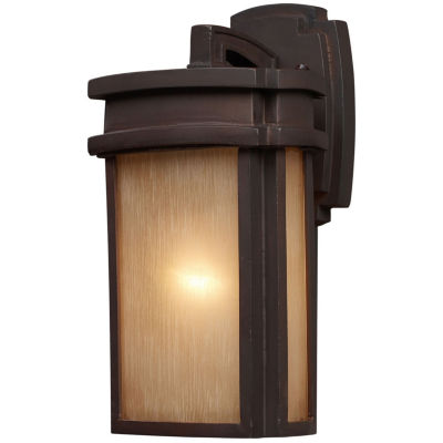 Sedona 1-Light Outdoor Wall Sconce In Clay Bronze