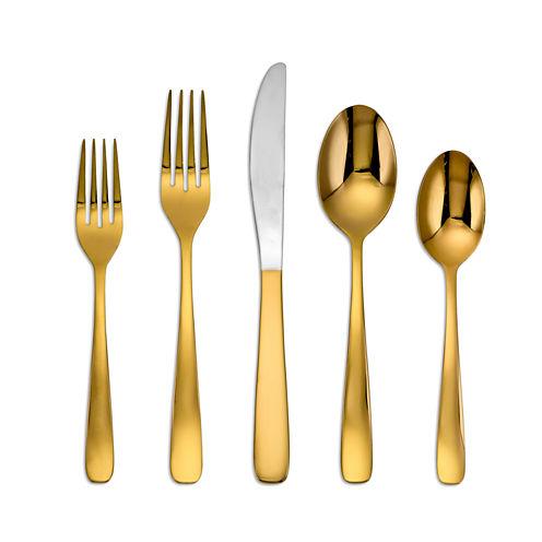 Cambridge® Everyday Bourne Gold Mirror 20-pc. Flatware Set