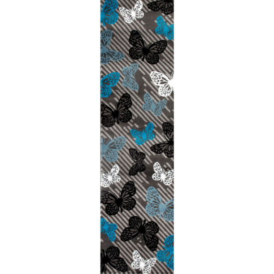 World Rug Gallery Modern Butterfly Pattern Rectangular Rugs