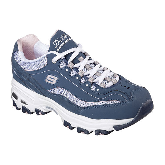 Skechers D'Lites Womens Walking Shoes Lace-up