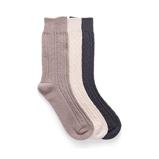 Muk Luks 3 Pair Boot Socks Womens