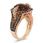 LIMITED QUANTITIES Le Vian Grand Sample Sale™ Ring featuring Chocolate Quartz®, Bubblegum Pink Sapphires™, Chocolate Diamonds®, Vanilla Diamonds® set in 14K Strawberry Gold®