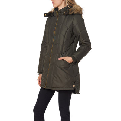 Liz Claiborne Hooded Water Resistant Heavyweight Puffer Jacket