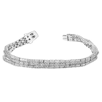 6 CT. T.W. Genuine White Diamond 14K White Gold 7 Inch Tennis Bracelet