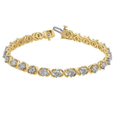 5 CT. T.W. Genuine White Diamond 14K Gold 7.25 Inch Tennis Bracelet