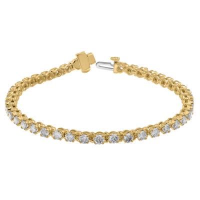 5 CT. T.W. Genuine White Diamond 10K Gold 7.25 Inch Tennis Bracelet