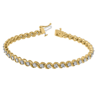 2 CT. T.W. Genuine White Diamond 10K Gold 9 Inch Tennis Bracelet