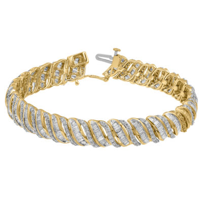 5 CT. T.W. Genuine White Diamond 10K Gold 7 Inch Tennis Bracelet