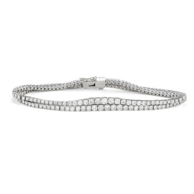 5 CT. T.W. Genuine White Diamond 14K White Gold 7 Inch Tennis Bracelet