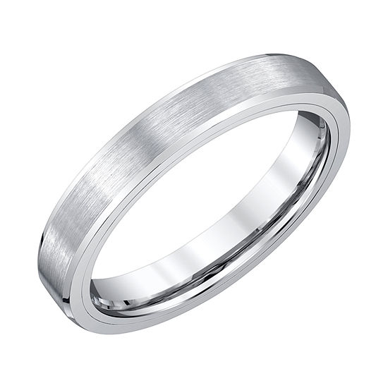 Mens 4mm Tungsten Wedding Band