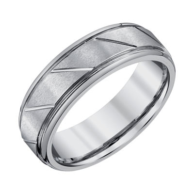 Mens 7mm Tungsten Wedding Band