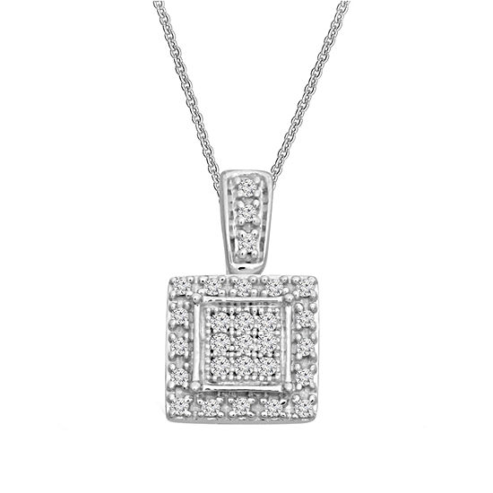 Womens 15 ct tw white diamond sterling silver pendant necklace tw white diamond sterling silver pendant necklace aloadofball Gallery