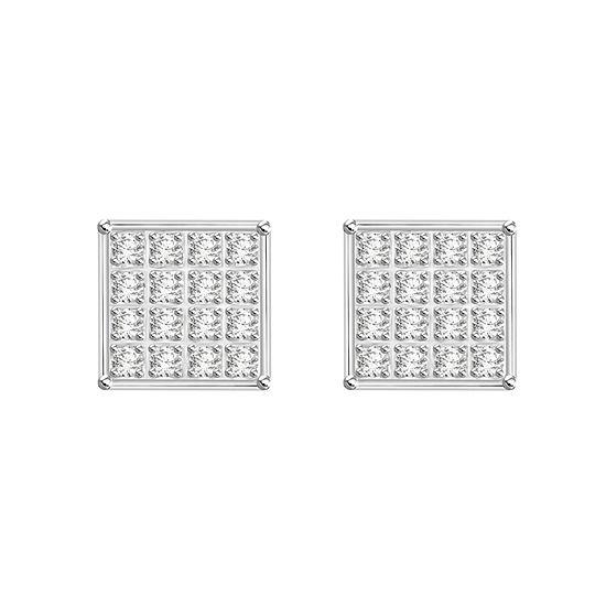 1/10 CT. T.W. White Diamond Sterling Silver 5.9mm Stud Earrings