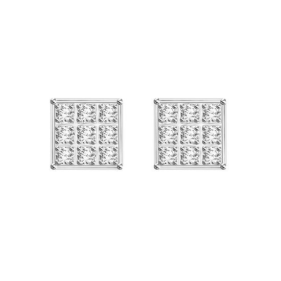 Diamond Accent White Diamond Sterling Silver 4.7mm Stud Earrings