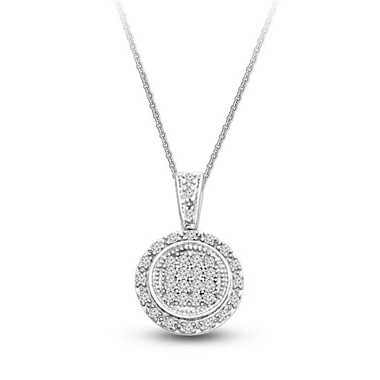 Womens 15 ct tw white diamond sterling silver pendant necklace tw white diamond sterling silver pendant necklace aloadofball Image collections