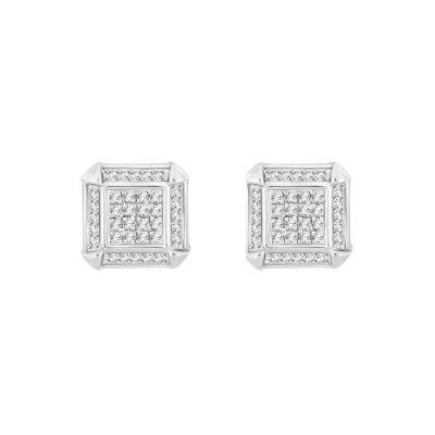 1/5 CT. T.W. White Diamond 8.7mm Stud Earrings