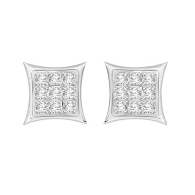 Diamond Accent White Diamond Sterling Silver 5.3mm Stud Earrings