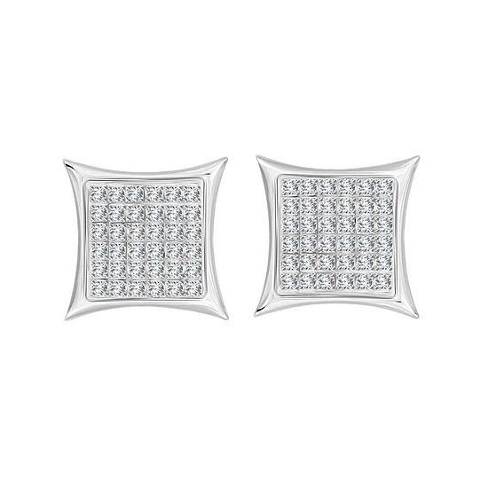 1/4 CT. T.W. White Diamond Sterling Silver 10.7mm Stud Earrings
