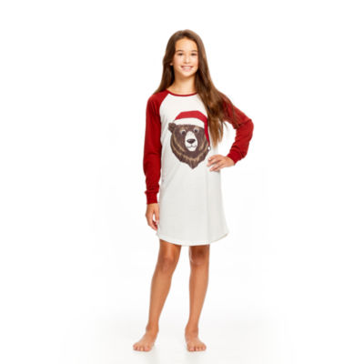 HOLIDAY #FAMJAMS BEAR GOWN - GIRL'S