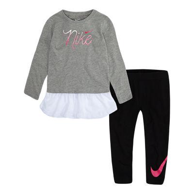 Nike 7.25 F18 Nike Toddler Girl 2-pc. Legging Set-Toddler Girls