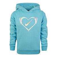 Nike Girls Hoodie-Toddler (Blue Chill)