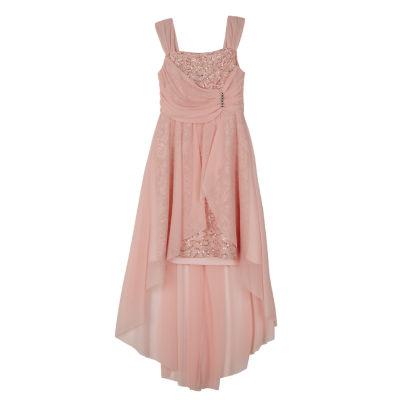 by&by girl Sleeveless Pattern Maxi Dress Girls