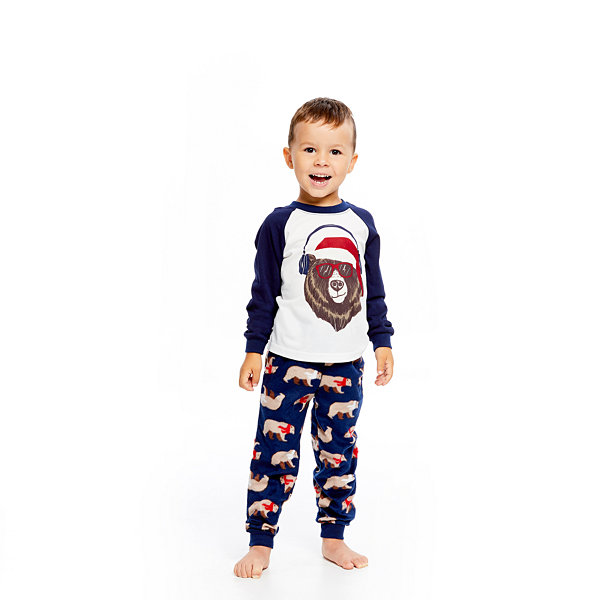 Holiday FAMJAMS Bear 2 Piece Pajama Set - Boy's Toddler