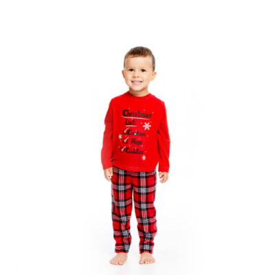 Holiday #Famjams Santa 2 Piece Pajama Set - Unisex Toddler