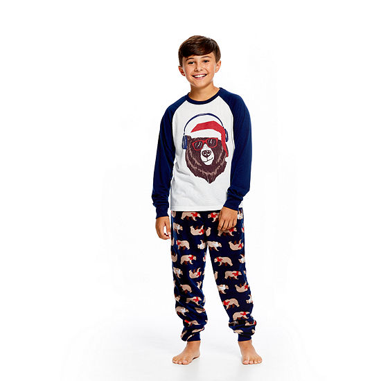 aadf67f886 Holiday FAMJAMS Bear 2 Piece Pajama Set - Boy s - JCPenney