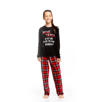Holiday #Famjams Santa 2 Piece Pajama Set - Unisex Kids