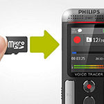 Philips DVT2710 Digital Voice Tracer Recorder - 8 GB
