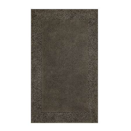 JCPenney Home Shag Border Washable Rectangular Rug, One Size , Brown